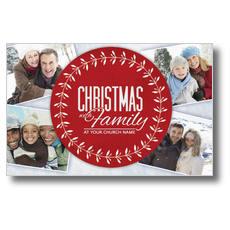Christmas Family Postcard