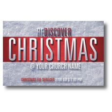 Christmas Stripe Postcard