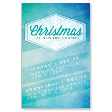 Christmas Schedule Postcard