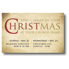 Find Christ Postcard