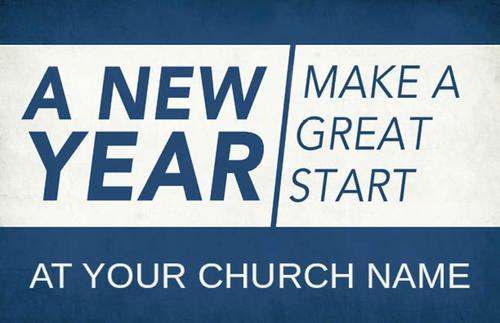 new year change postcard church postcards outreach marketing
