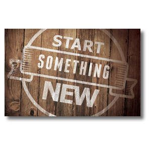 Start Something New Church Postcards