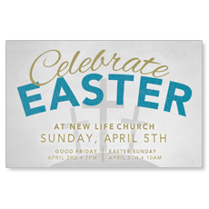 Celebrate Easter Type Postcard