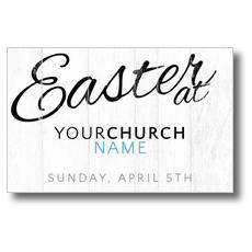 Easter Logo Wood Postcard