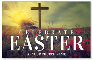 Celebrate Easter Cross Postcards