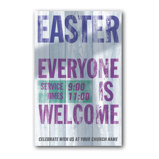Everyone Welcome Postcard