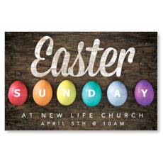 Easter Sunday Egg Postcard