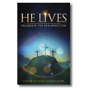 He Lives Crosses Postcards