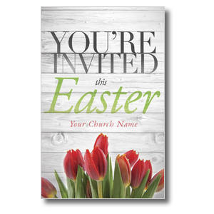 Easter Invited Wood 4/4 ImpactCards