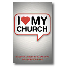 I Love My Church Discover Postcard