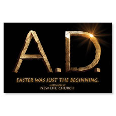 A.D. Logo Black Postcard