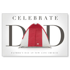 Tent Dad Postcard