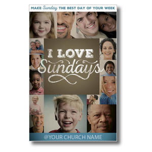 I Love Sundays Postcards