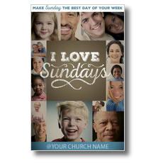 I Love Sundays Postcard