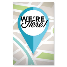 We Are Here Postcard