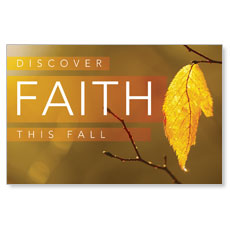 Fall Discover Faith Postcard