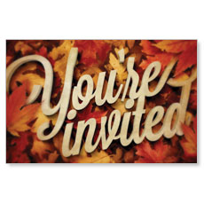 Invited Leaf Pile Postcard