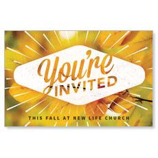 Invited Burst Postcard