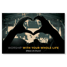 Worshiper Heart Postcard
