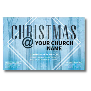 Blue Trees Christmas Postcards