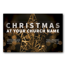 Craft Star Christmas Postcard