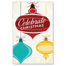 Retro Ornaments Postcard