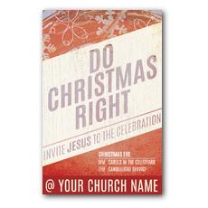 Do Christmas Right Postcard