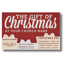 Gift of Christmas Church Postcard