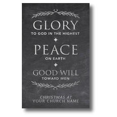 Glory Peace Goodwill Postcard
