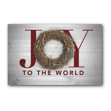 Joy Twig Wreath Postcard