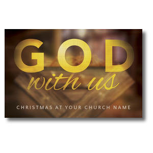 God With Us Manger 4/4 ImpactCards