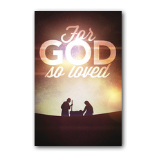 For God So Loved Nativity Postcard