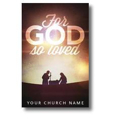 For God So Loved Nativity Postcard