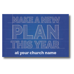Blue Print Plan Postcards
