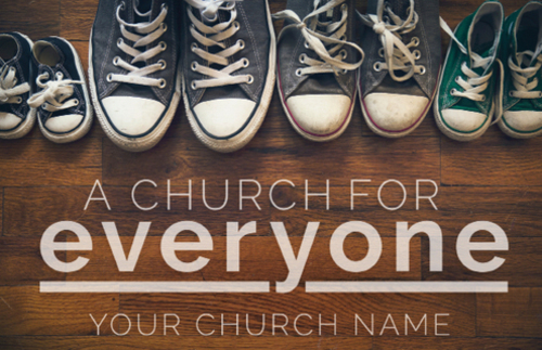 everyone shoes postcard - church postcards