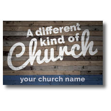 Different Kind of Church Postcard
