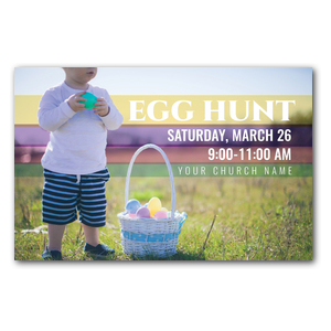 Egg Hunt Toddler Postcards