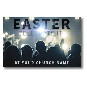 Easter Crowd Postcards