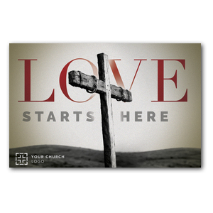 Love Starts Here Church Postcards