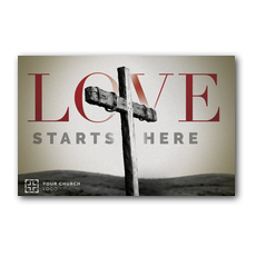 Love Starts Here Postcard