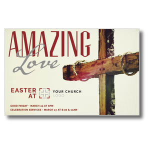 Amazing Love Cross Postcards