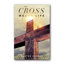 Cross Means Life Postcard