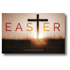 Easter Cross Postcard