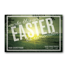 Easter to Remember Green Postcard