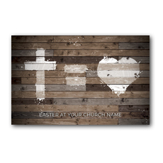 Cross Equals Love Postcard