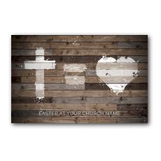 Cross Equals Love Postcard
