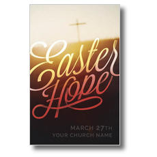 Easter Hope Script Postcard