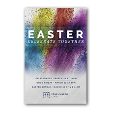 Easter Powder Paint Postcard
