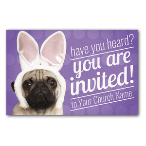 Easter Pug Postcards