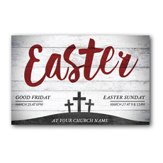 Red Easter Postcard